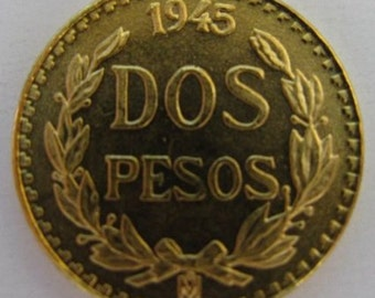 Vintage Mexican Gold 2 Pesos***ON SALE**