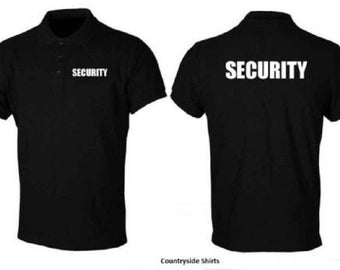 Security Polo Shirt Black In Color All Sizes
