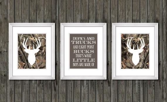 Deer decor eight point buck deer nursery decor camouflage - Hunting bedroom decor ...
