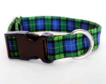 Scotty Collar | Pet Collar | Male Dog Collar | Large Dog Collar | Small Dog Collar | Plaid Dog Collar | Gift for Dog Lovers