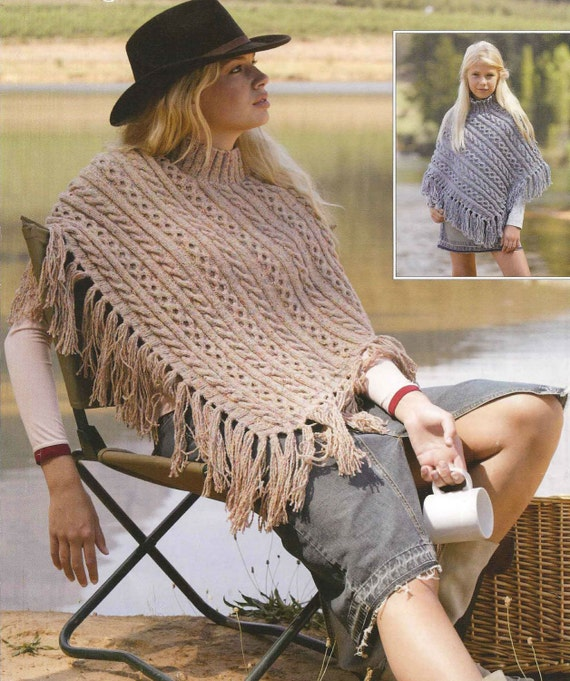 Adult poncho knitting patterns