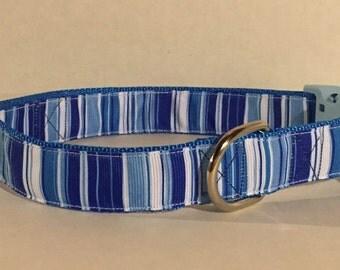 Shades of Blue Dog Collar
