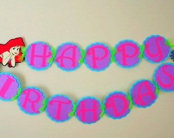 Disney Ariel Birthday  Banner