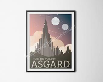 Asgard Travel Poster