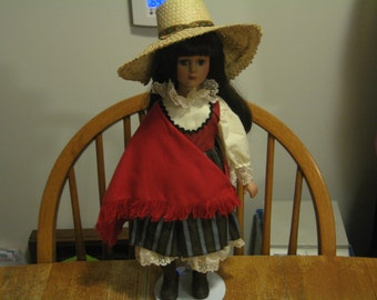Sale!!! Vintage House Of Lloyd Porcelain Maria Doll - 1992 - Beautiful!!!