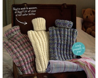 hot water bottle covers dk knitting pattern