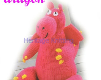 dragon toy dk knitting pattern 99p