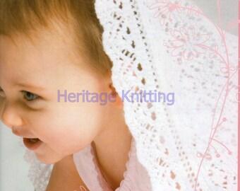 baby shawl 3 ply knitting pattern 99p