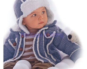 boys coat and hat knitting pattern 99p