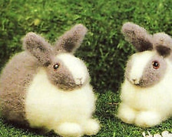 bunnys / rabbit toy knitting pattern 99p