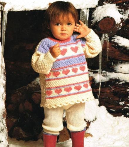Knitting Pattern Jumper With Heart : heart jumper aran knitting pattern 99p