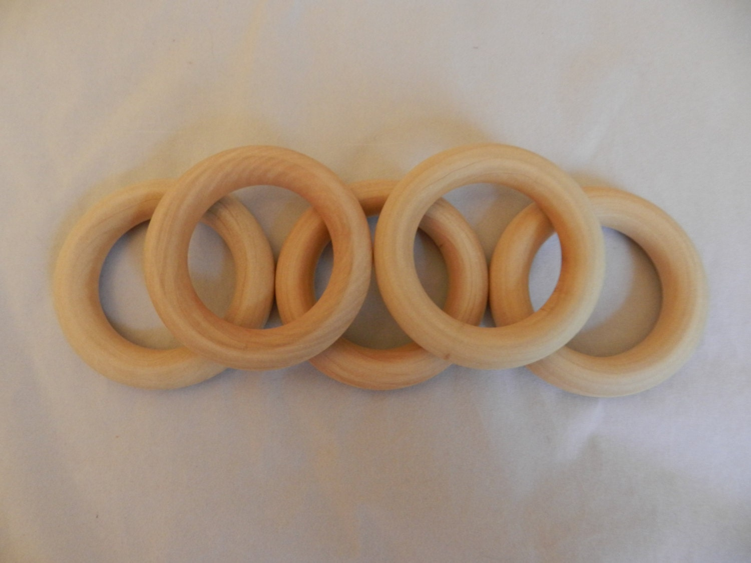 wooden rings craft rings toss rings 3 inch imperfect set of 10