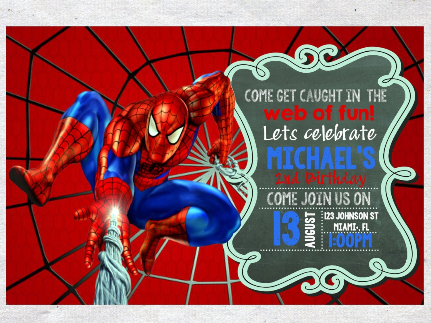 Spiderman birthday invitations gangcraft spiderman invitation etsy birthday invitations stopboris