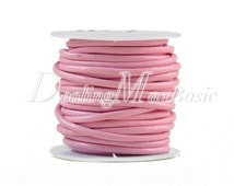 1 Roll/10m Holiday Pink Faux Leather Cord Wire Thread String 3X3mm New TC0123-10