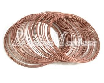 100 loops 0.6mm 60m Memory Steel Wire Cuff Bangle Bracelet DIY Jewelry Making Antique Copper TL0031-3