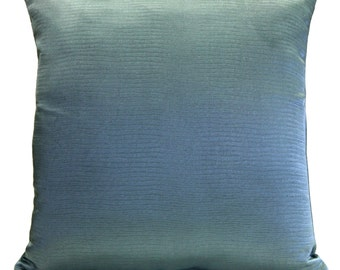 Blue-Teal Pillow, Throw Pillow Cover, Decorative Pillow Cover, Cushion Cover, Pillowcase, Accent Pillow, Toss Pillow, Polyester, Couch Decor