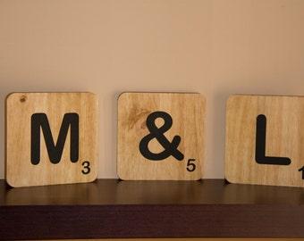 Letras para decorar etsy - Letras scrabble pared ...