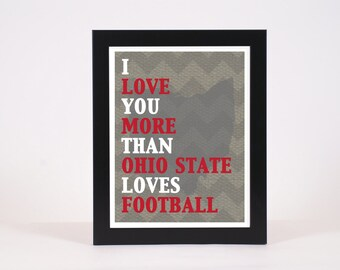 Ohio State Football art print, Printable Poster, OSU Poster, wall decor, digital poster print, INSTANT DOWNLOAD, Wall Art print