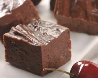 1/2 lb. Homemade Dark Chocolate/Dried Cherry Fudge