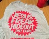 "Jesusfreakhideout.com ""Starburst"" Tee - Heather Gray"