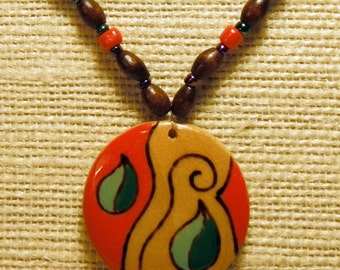 Necklace model Leaf - Woman / Girl