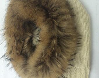 Hood/scarf made with murmansky fur trim