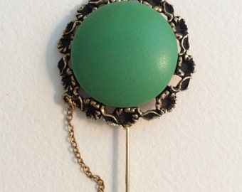 Vintage Gold and Green Pin