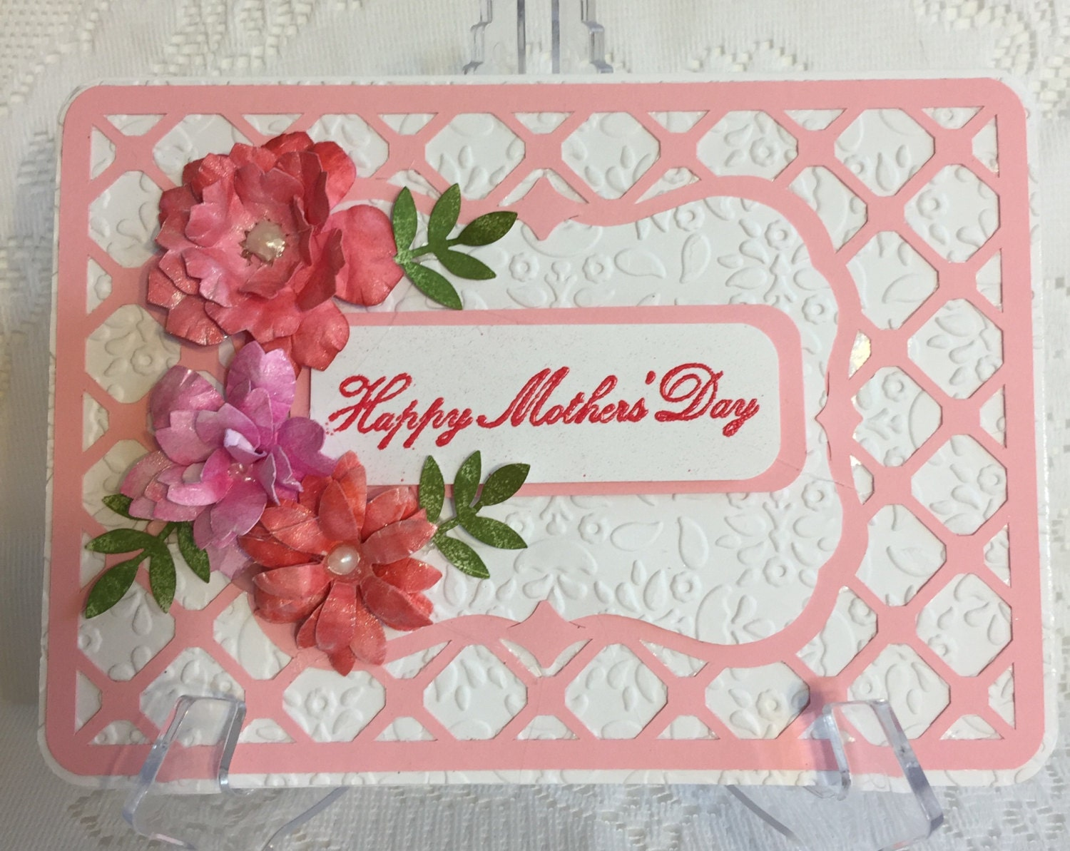 Mother 39 s day elegant handmade greeting card for Classy mothers day cards
