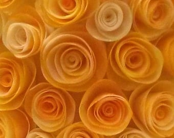Rolled Wafer Paper Roses