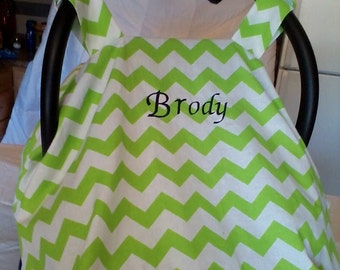 Carseat Canopy, Carseat Cover, Chevron Carseat Canopy