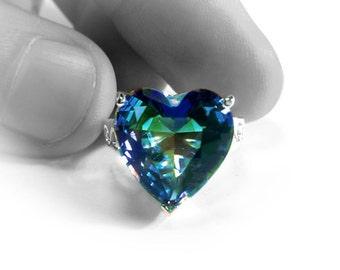 Blue Mystic Gem Silver Ring