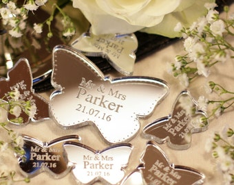 Personalized Wedding Favor  Mr & Mrs Love Butterflies Wedding Table Decorations