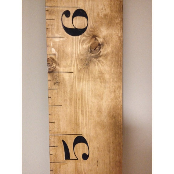 Rustic brown kids measuring ruler stick growth chart wood for How to calculate board feet in a tree