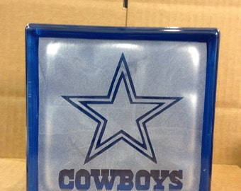Dallas cowboys glass block