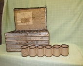 4 Dozen Protecto Egg Crate Galvanized Tin Box Transport Vintage Advertising Sign