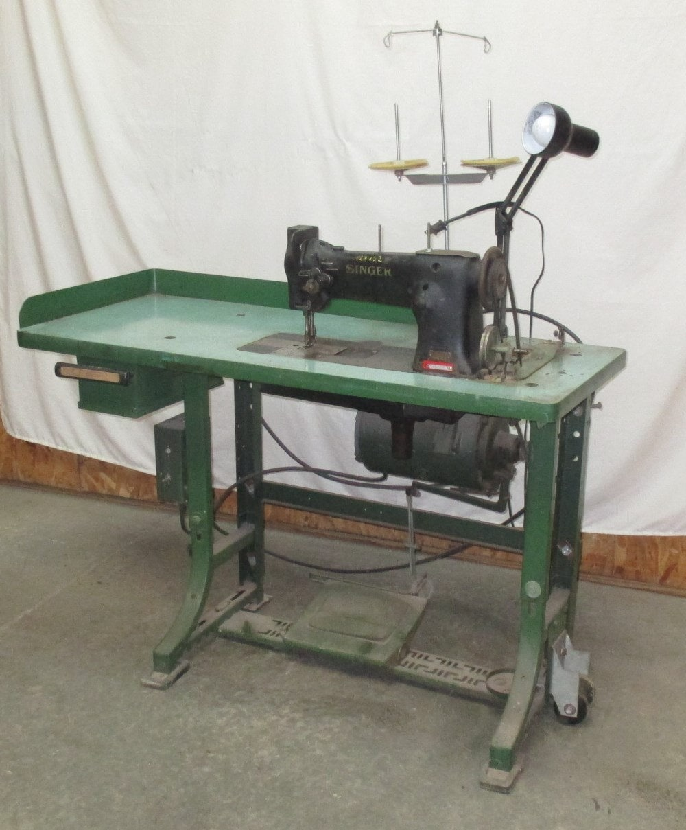 sewing leather by machine