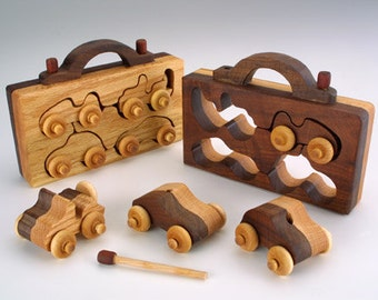 4-Pack Handmade Wooden Toy Christmas Gift