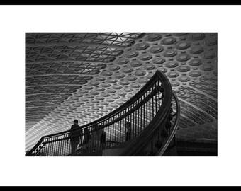 Union Station, Washington, DC. Black and White, Fine Art Photography.