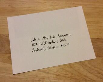 Custom Addressed Wedding Invitation