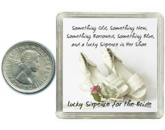 Lucky Wedding Gifts: Lucky Silver Sixpence Coin For The Bride To Be On Her Wedding