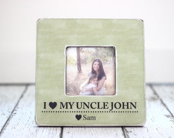 uncle gift i love my uncle personalized picture frame niece nephew