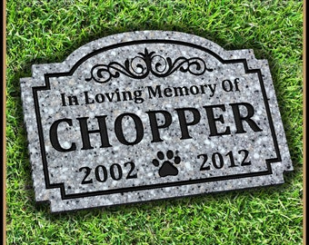 Pet Memorial Grave Marker Headstone Dog Cat Horse Gravestone Personalized Engraved Pet Garden Stone Pet Memorial Stone