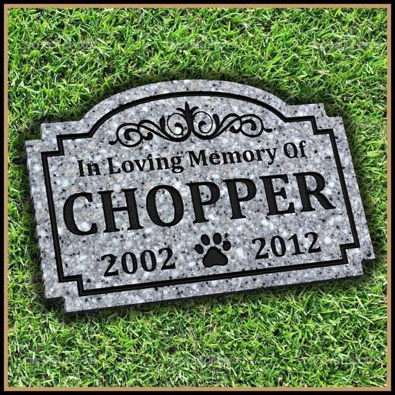 Pet Memorial Grave Marker Headstone Dog Cat Horse Gravestone