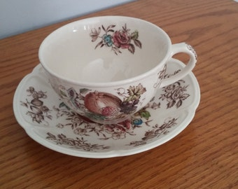 Johnson Bros Windsor Fruit  Tea Cup and Saucer