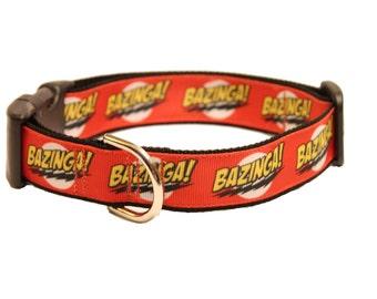 "1"" Width Bazinga Quick Release Adjustable Dog Collar"
