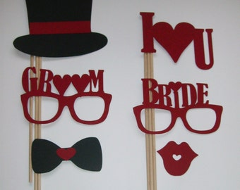 Photo Booth Props Bride and Groom Weddings Marriage Engaged (2027D)