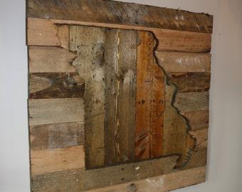 Wooden Missouri Silhouette