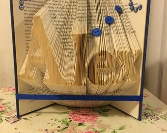Personalised book art for any occasion.