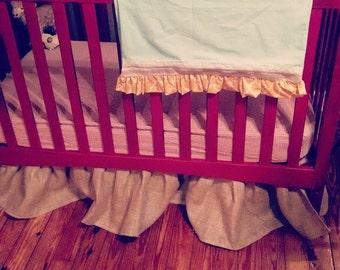 Burlap Crib Skirt