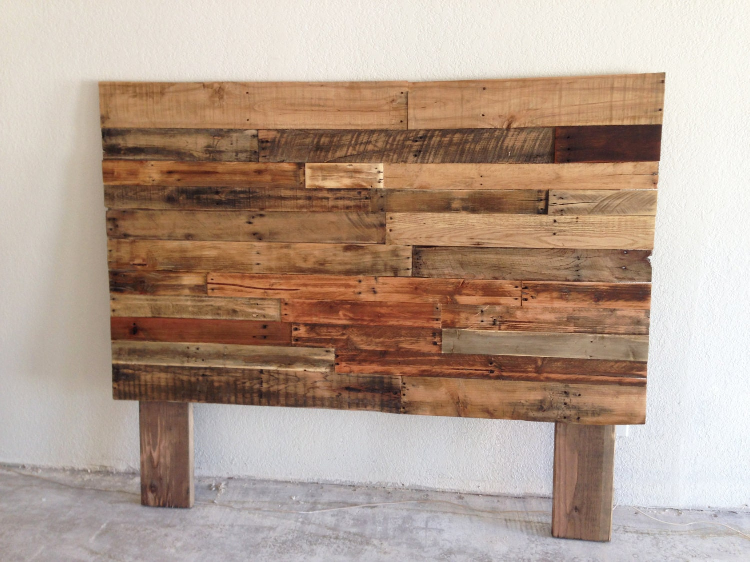 reclaimed recycled pallet wood headboard head board by ...